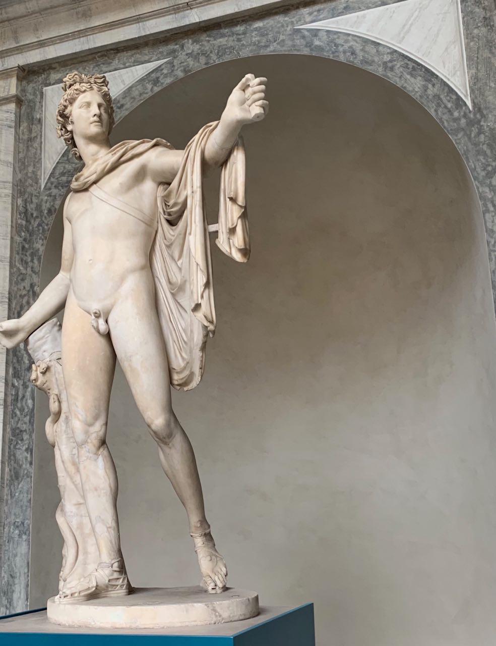 Apollo del Belvedere, 350aC ca., Musei Vaticani, Citta del Vaticano